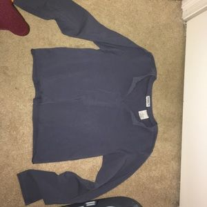 Blue grey thick yoga shirt